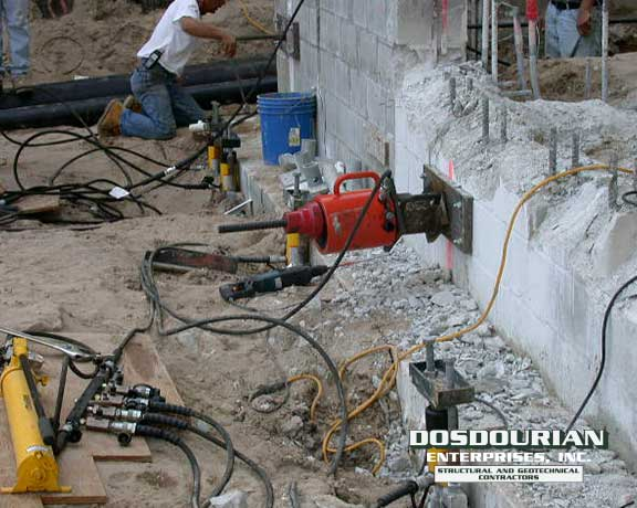 Helical Pier Settling Foundation Repair